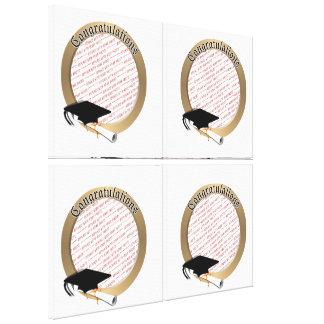 'Congratulations' Gold Graduation  Photo Frame Stretched Canvas Print