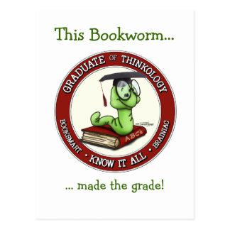 Congratulations Grad - Bookworm Card Postcard