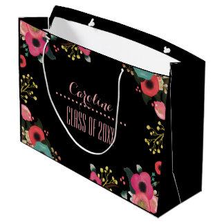 Congratulations Grad. Floral Design Gift Bags