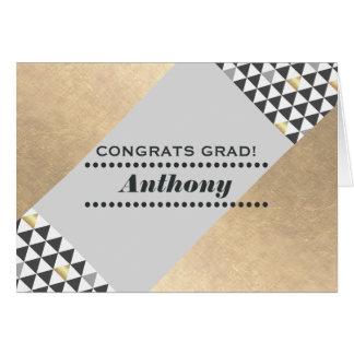 Congratulations Grad. Geometric Design Custom Card