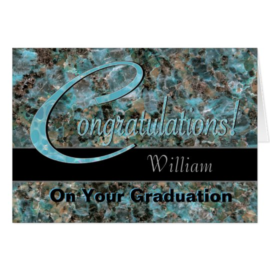 Congratulations Graduate Bold Turquoise and Brown Card