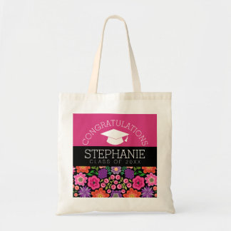 Congratulations Graduate Girly Flowers Graduation Tote Bag
