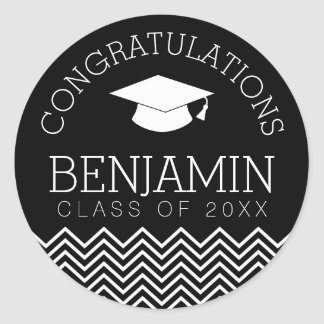 Congratulations Graduate Graduation CAN EDIT COLOR Classic Round Sticker