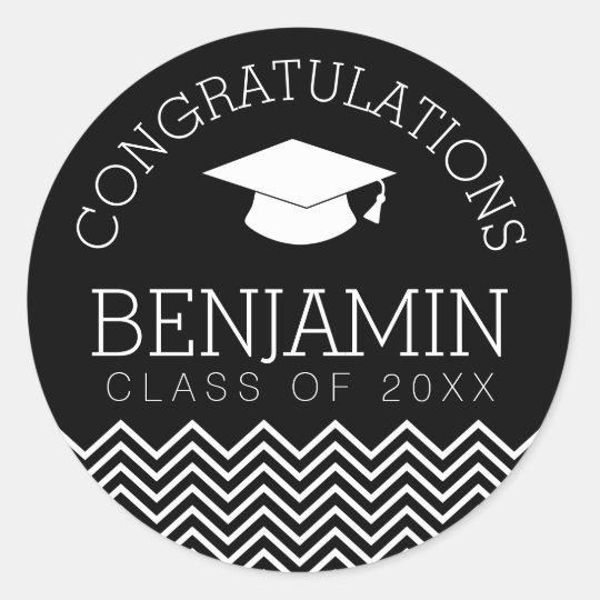 Congratulations Graduate Graduation CAN EDIT COLOR Classic Round