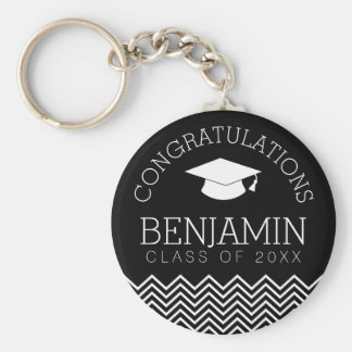 Congratulations Graduate - Personalized Graduation Basic Round Button Key Ring