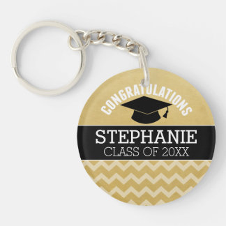 Congratulations Graduate - Personalized Graduation Double-Sided Round Acrylic Key Ring