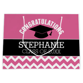 Congratulations Graduate - Personalized Graduation Large Gift Bag