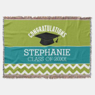Congratulations Graduate - Personalized Graduation Throw Blanket