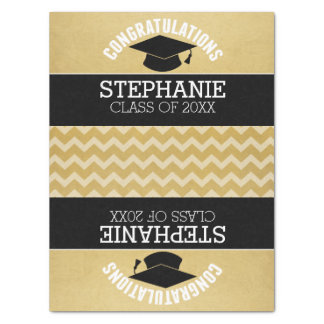 Congratulations Graduate - Personalized Graduation Tissue Paper
