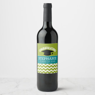 Congratulations Graduate - Personalized Graduation Wine Label