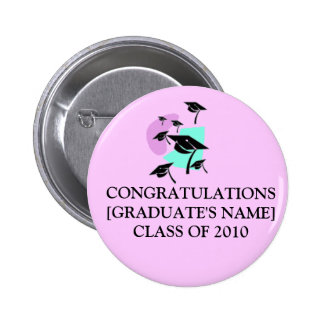 CONGRATULATIONS[GRADUATE'S NAME]CLASS OF 2014 6 CM ROUND BADGE