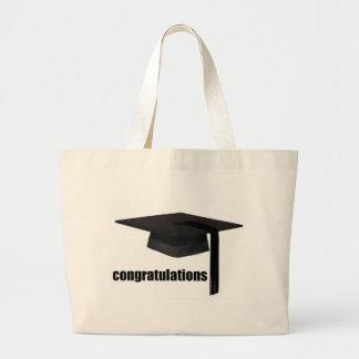 Congratulations Graduation Cap Large Tote Bag