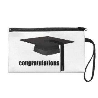 Congratulations Graduation Cap Wrist Bag Wristlets