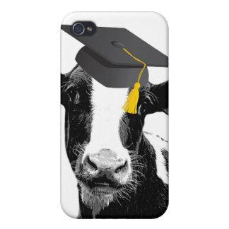 Congratulations Graduation Funny Cow in Cap iPhone 4 Cases