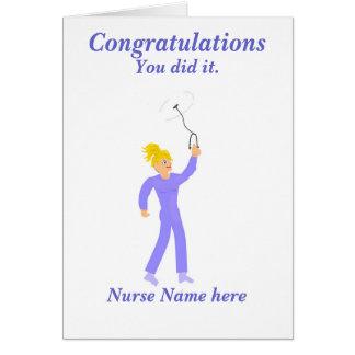 Congratulations Graduation Nurse 'Name' Card