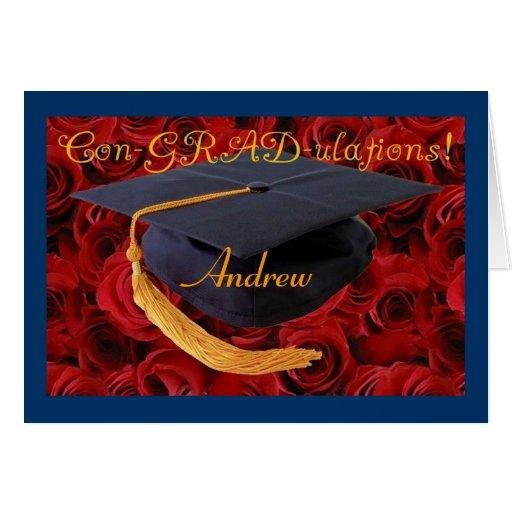 Congratulations-Graduation-personalize name! Card