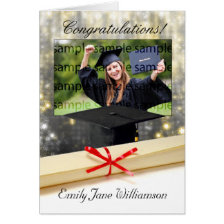 congratulations graduation photo greeting card