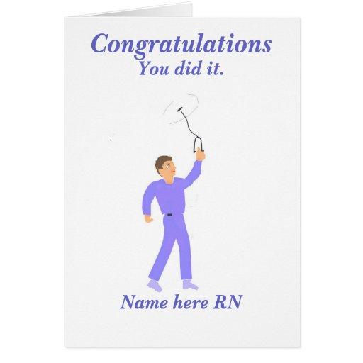 Congratulations Graduation Registered Nurse Male Greeting Cards