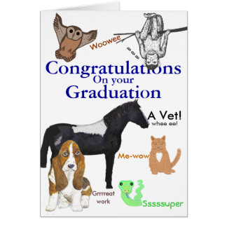 Congratulations Graduation Veterinary Card