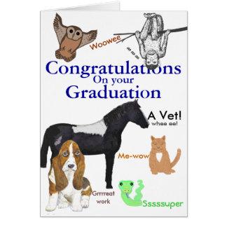 Congratulations Graduation Veterinary Greeting Card