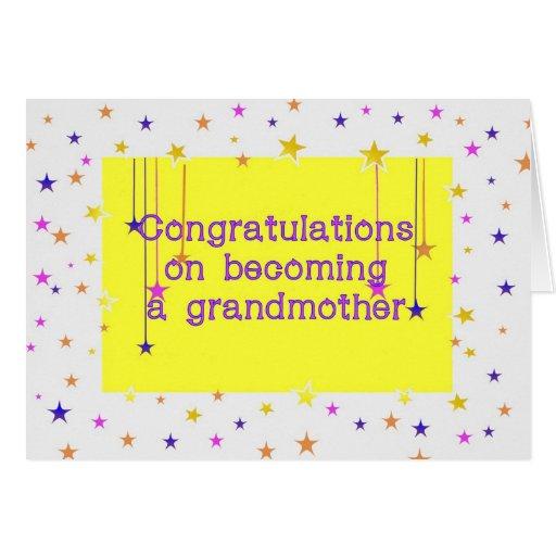 Congratulations Grandmother Gender Neutral Greeting Card