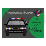 Congratulations, Grandson, Police Officer Greeting Card