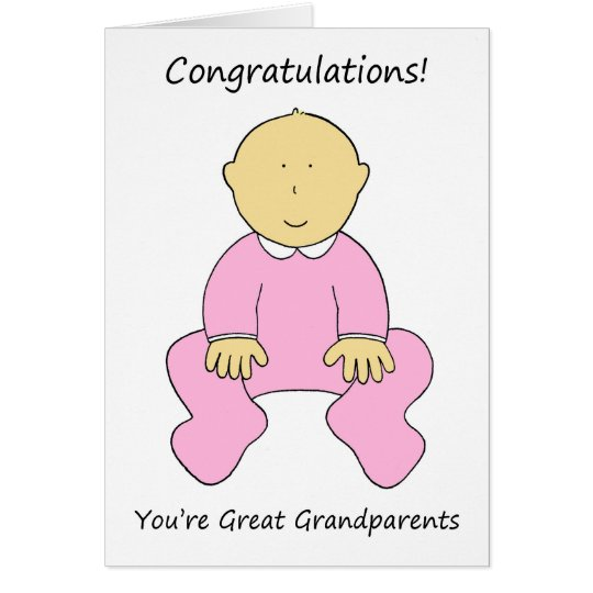 Congratulations Great Grandparents to a girl Card