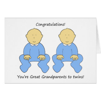 Congratulations Great grandparents to twin boys. Card
