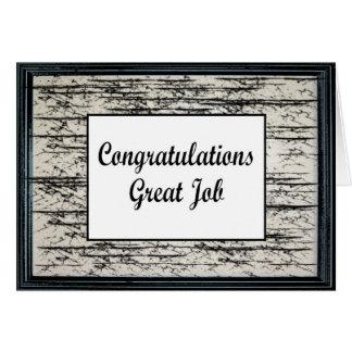 Congratulations Great Job Card