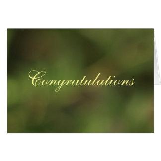 Congratulations Green hues card