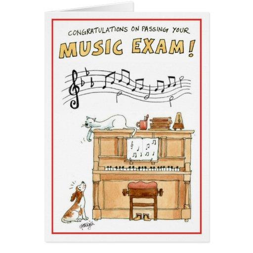 Congratulations greeting card - passing music exam
