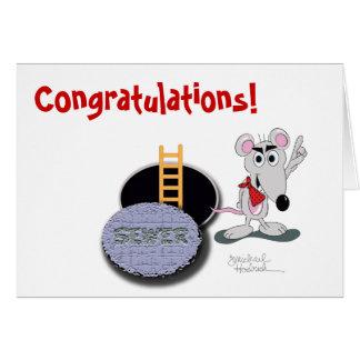 Congratulations Greeting Card - Smartest Rat