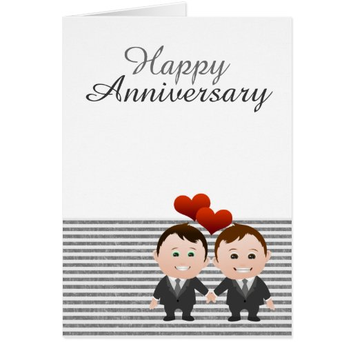 Congratulations Happy Anniversary Gay Themed Greeting Cards