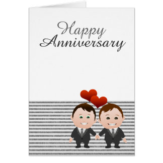 Congratulations Happy Anniversary Gay Themed Greeting Card