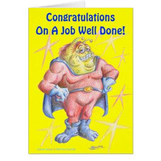 Congratulations, Hero! Greeting Card