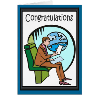 Congratulations! I love business class Greeting Card