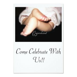 CONGRATULATIONS 13 CM X 18 CM INVITATION CARD