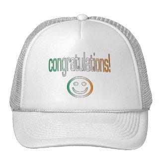 Congratulations! Ireland Flag Colors Cap