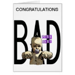 Congratulations It's a Bad Girl Cards