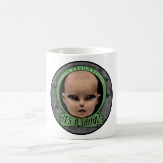 """Congratulations! It's A Ghoul!"" Stickers Basic White Mug"