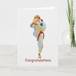 Karate Congratulations Cards | Zazzle co uk