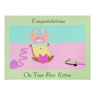 Congratulations Kitten Custom Invites