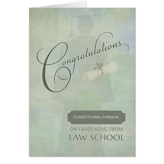 Congratulations Law School Graduate Custom Name Card