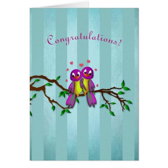 Congratulations! - Love Birds Card