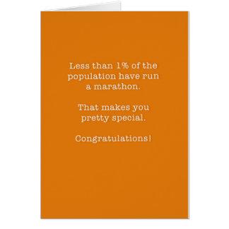 Congratulations Marathon Card for Runner