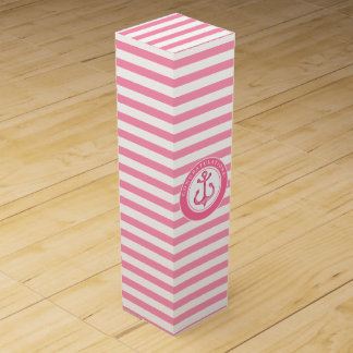Congratulations | Nautical Pink Anchor Wine Box