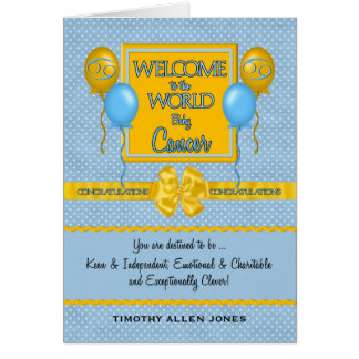 Congratulations New Baby Boy Cancer Zodiac Card