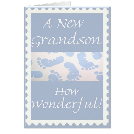 Congratulations-New Grandson Greeting Card