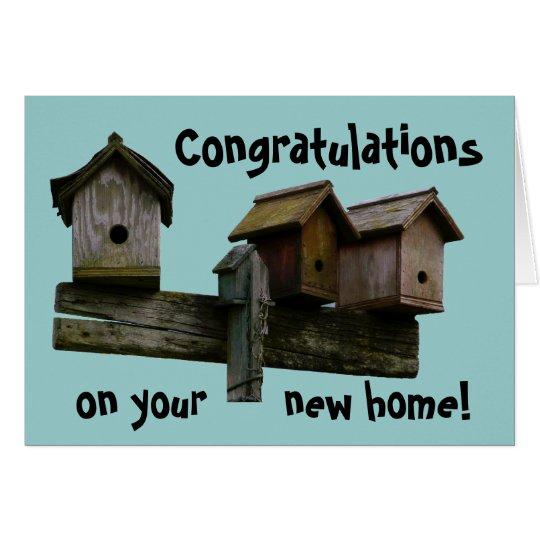 Congratulations New Home Card