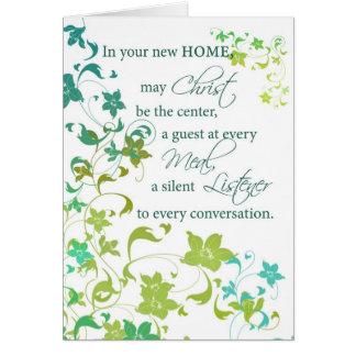 Congratulations New Home, Christ Center, Religious Card